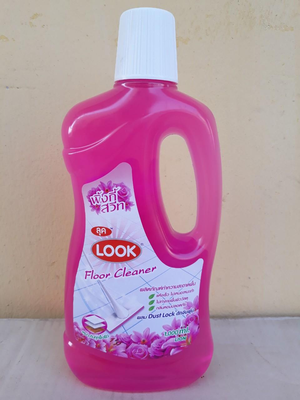 Nước lau sàn nhà Look 1000ml (Pinky sweet - hồng)
