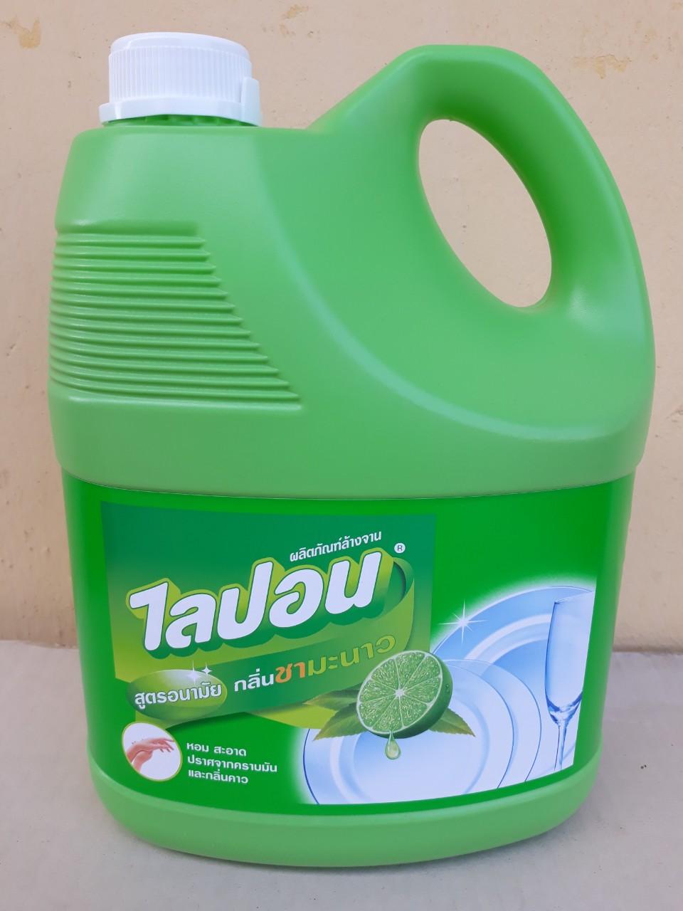 Nước rửa chén Lipon 3600ml hương trà chanh