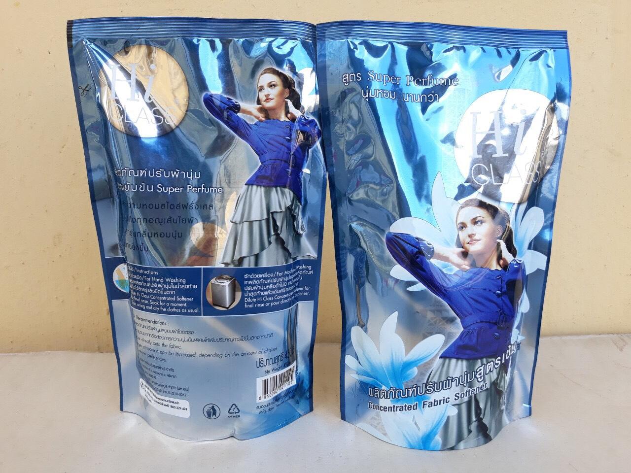 Nước xã mềm vải Hiclass đậm đặc 450ml (silver - xanh)