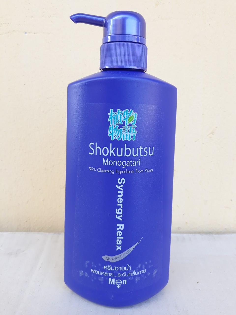 Sữa tắm Shokubutsu 500ml (Synergy relax - xanh đen) dành cho nam