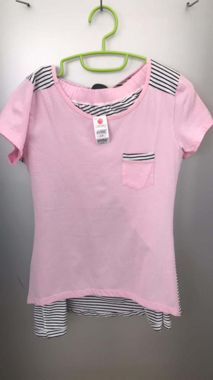 Bộ đồ ngủ nữ loại OC 1029 M+L (93% thành phần dệt từ Cotton, 7% dệt từ sợi tổng hợp Spandex)