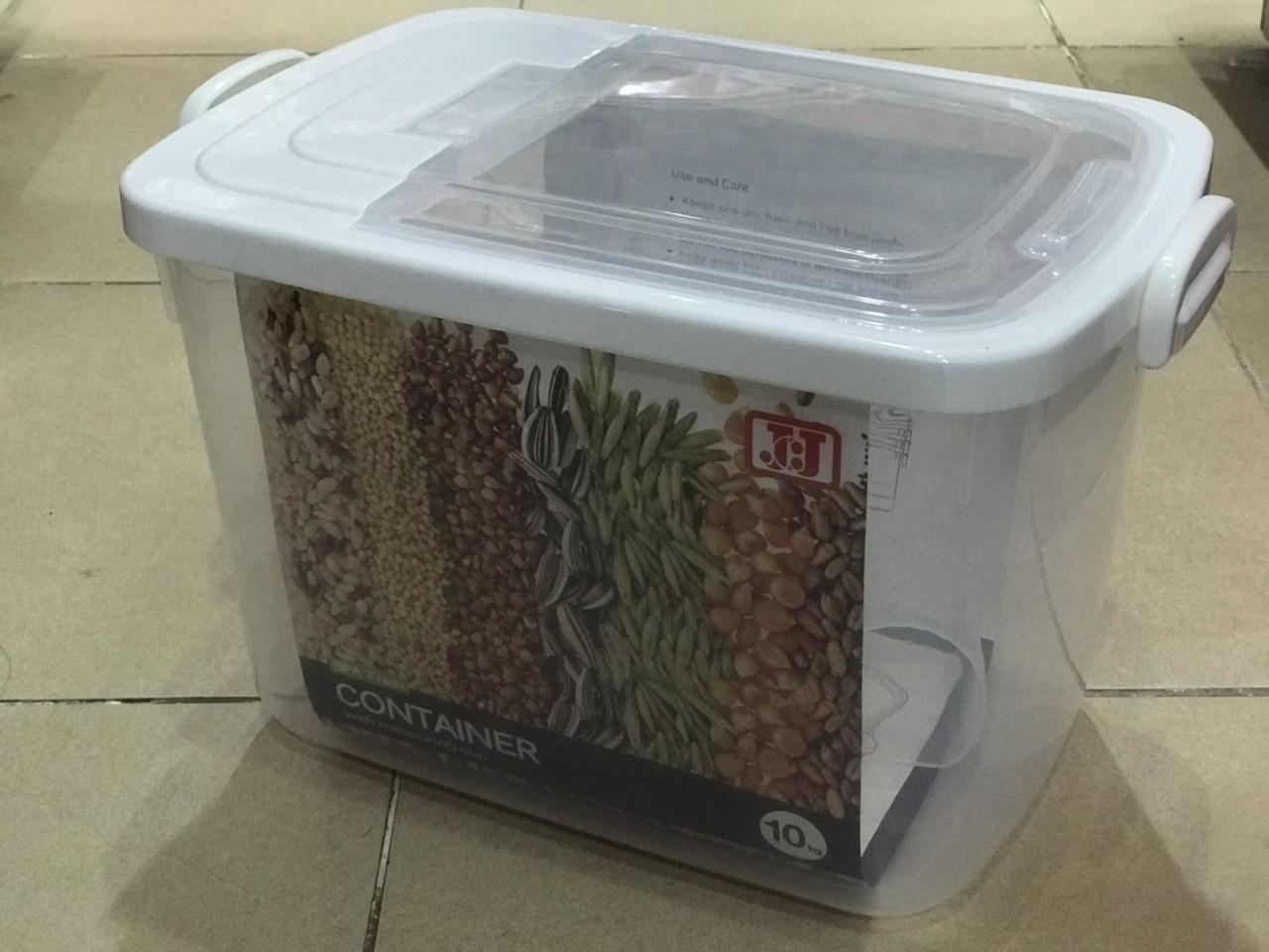 Thùng đựng gạo 10kg (24x36x23.5cm) JCJ - 2559