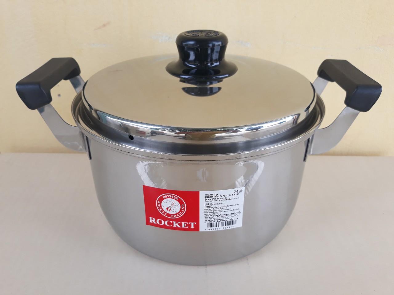 Nồi nấu canh Rocket 24cm - 4.9 lít - dùng được cho bếp từ 100260124