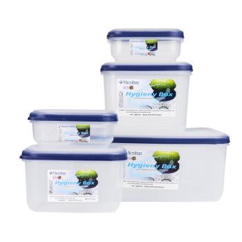 Bộ hộp đựng thực phẩm kháng khuẩn (5 cái /bộ), Mã số: DW5038S