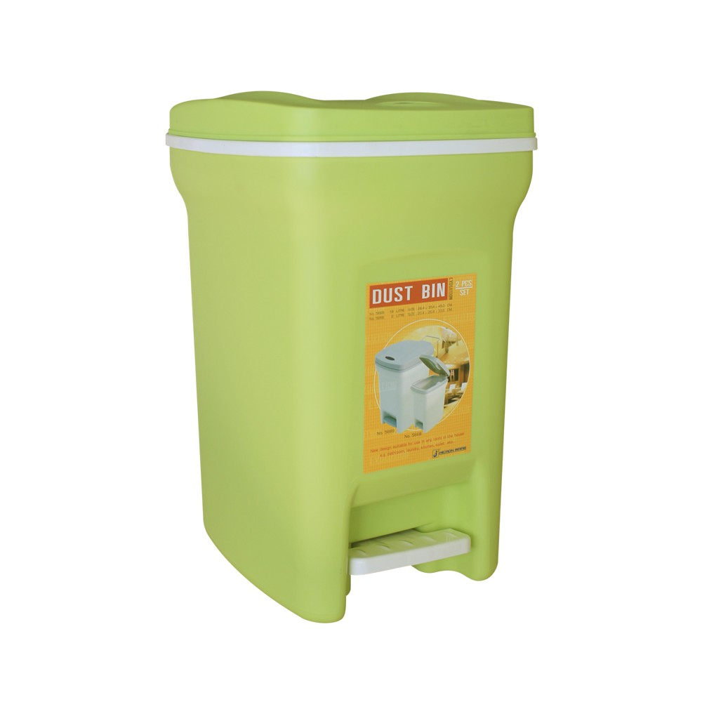 Thùng rác 2 lớp 6 lít (20.5x26.5x33.5cm) Mã số: 5668