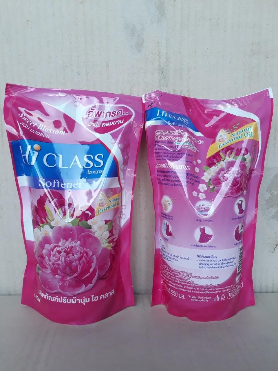 Nước xã Hiclass tinh dầu tự nhiên 550ml (Sweet Blooming - hồng)